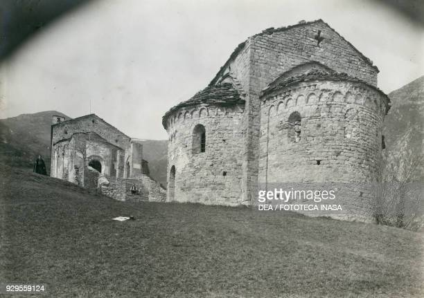 Abside in the Abbey of San Pietro al Monte Civate Lombardy Italy photograph by Ugo Monneret de Villard ca 1910