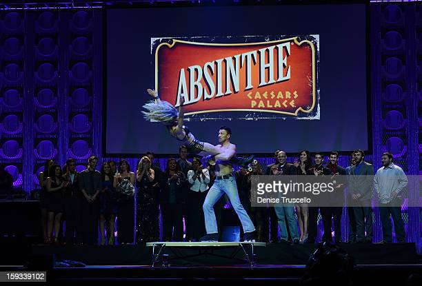 Absinthe cast members during the 2013 Fighters Only World Mixed Martial Arts Awards on January 11 2013 in Las Vegas Nevada