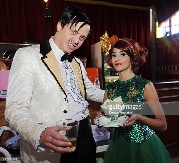 Absinthe cast The Gazillionaire and Penny Pibbets attend Absinthe at Caesars Palace on June 24 2011 in Las Vegas Nevada