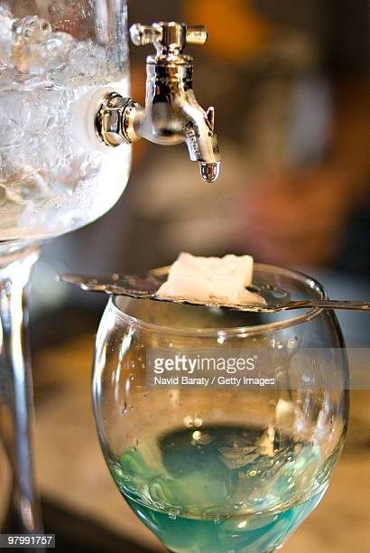 Absinthe drip on sugar cube