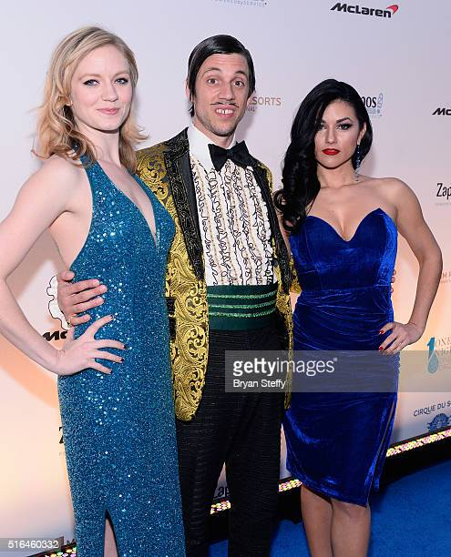 'Absinthe' show cast members Charlie Starling The Gazillionaire and Melody Sweets attend the fourth annual 'One Night for ONE DROP' imagined by...