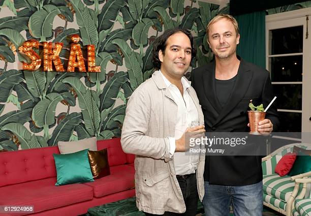 Absolut Elyx Jonas Tahlin and Chairman of Surf Air Sudhin Shahani attend Jonas Tahlin CEO Absolut Elyx hosts an event for Surf Air members at his...