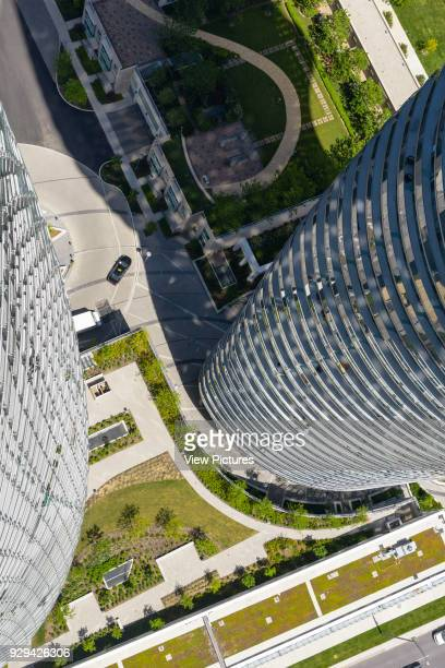 Absolute Towers, Mississauga, Canada. Architect: MAD Architects, 2012. The view from the 56th floor of the Absolute Tower.