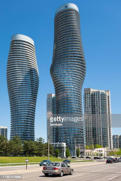 absolute world condominiums in mississauga ontario canada - mississauga stock pictures, royalty-free photos & images