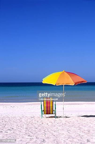 absolutely perfect day at the beach - anna maria island stock pictures, royalty-free photos & images