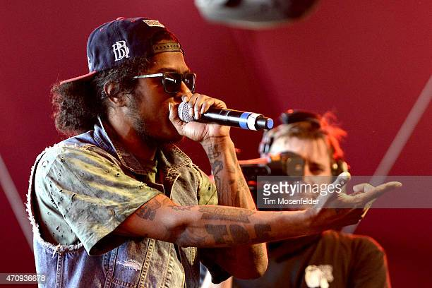 AbSoul performs during the 2015 Coachella Valley Music And Arts Festival at The Empire Polo Club on April 17 2015 in Indio California