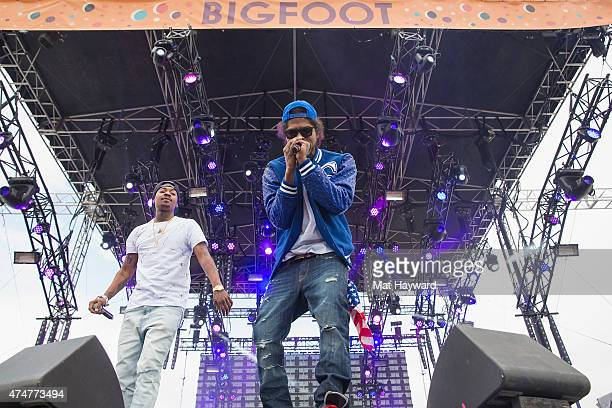 AbSoul performs on stage during the Sasquatch Music Festival at The Gorge on May 25 2015 in George Washington