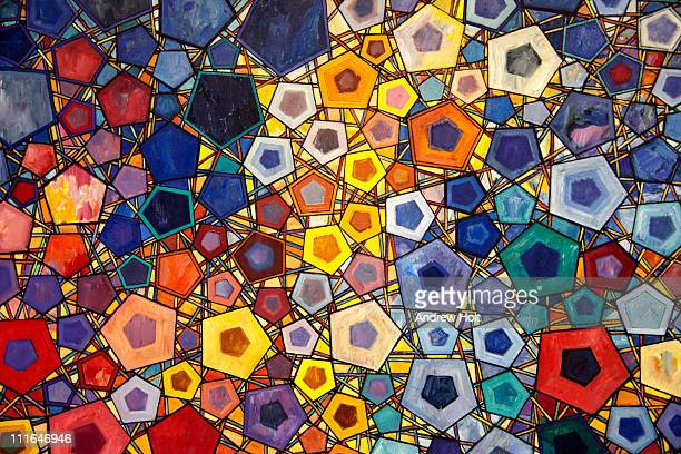 Abstact pentagon art patterns