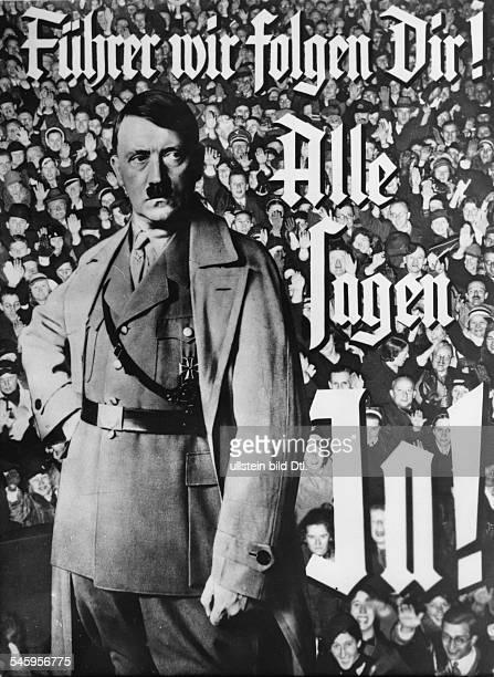 Abstimmung nach der Übernahme der Befugnisse des Reichspräsidenten durch Adolf Hitler Wahlplakat