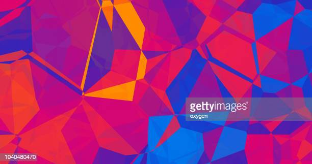 abstract 3d geometric, polygonal, triangle pattern - geometric design stock photos and pictures