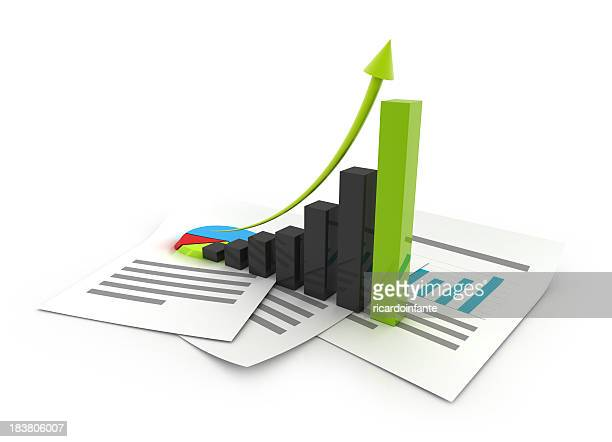 Abstract 3D graphical business chart