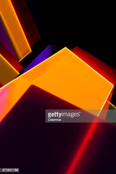Abstract acrylic structures
