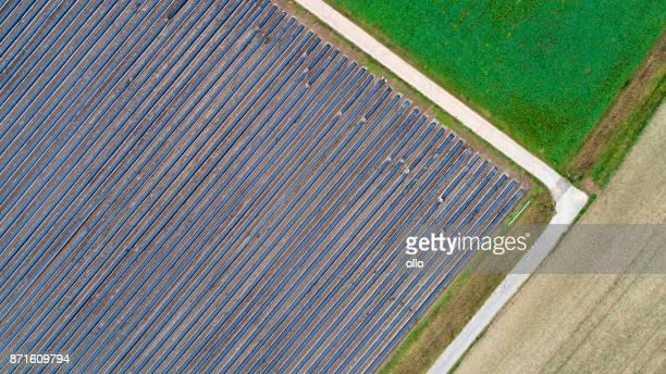 Abstrakte Agrargebiet - Luftbild