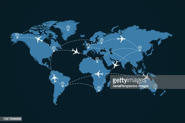 abstract air traffic - global village stock pictures, royalty-free photos & images