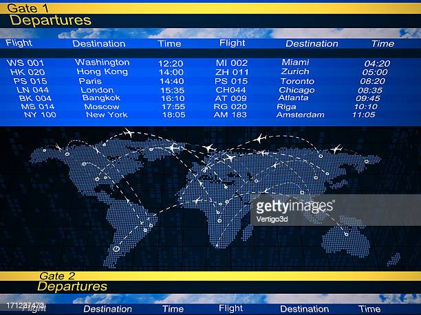 Abstract airlines schedule and traffic