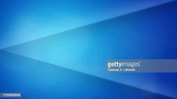 abstract and modern blue background with lines and triangles. - blue background gradient stock pictures, royalty-free photos & images