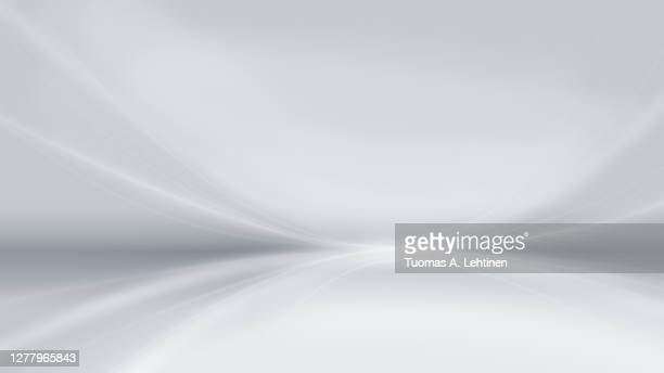 abstract and modern gray background with brighter bent lines. - grey colour stock pictures, royalty-free photos & images