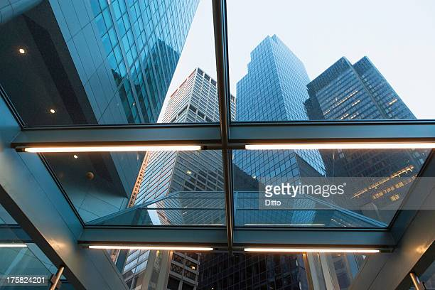 abstract architectural detail and skyscrapers - inside out stock pictures, royalty-free photos & images