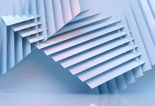 abstract architecture background multicolor - 3d rendering 926309126
