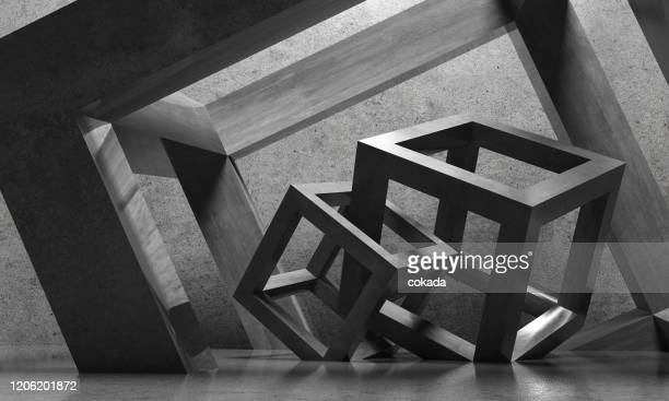 abstract architecture cubes - artistic product stock pictures, royalty-free photos & images