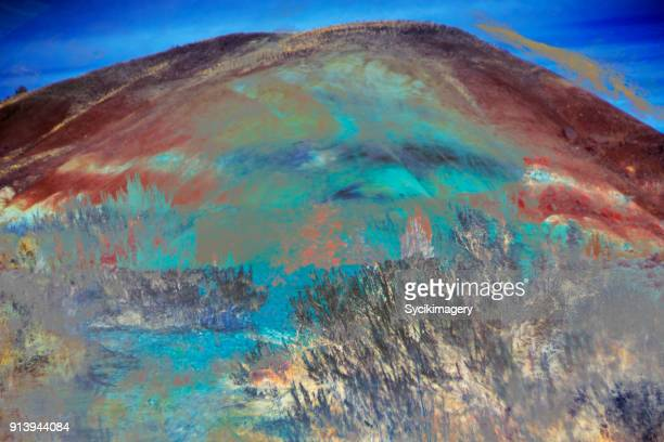 Abstract art, painted hills, Oregon