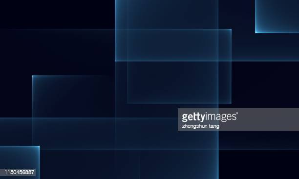 abstract art shapes on dark blue background. - line art stock pictures, royalty-free photos & images