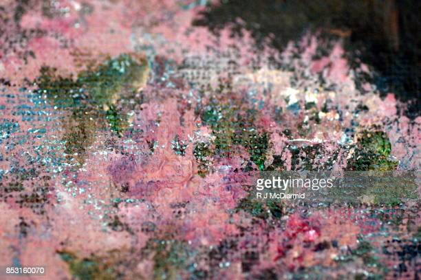 abstract artwork from acrylic painting - mixed media stock pictures, royalty-free photos & images