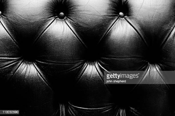 abstract background aged leather couch skin black & white