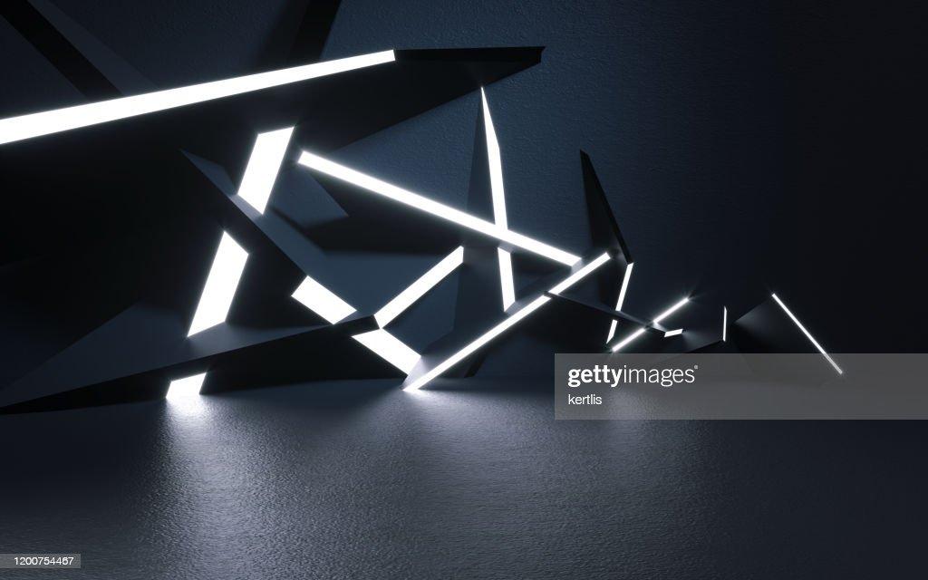 Fundo e luz abstratos - ilustração 3D - rendição : Foto de stock