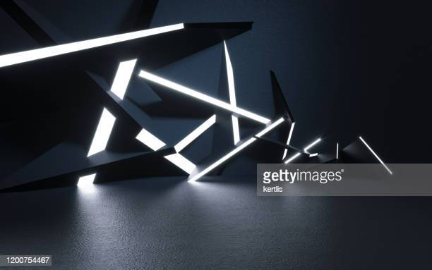 abstract background and light - 3d illustration - rendering - futuristic stock pictures, royalty-free photos & images