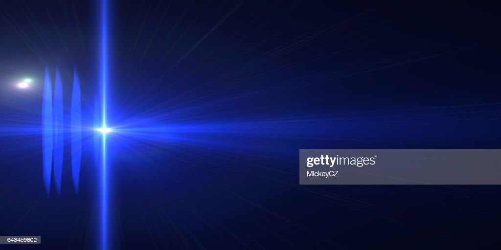 Abstract Background Blue Laser Futuristic Neon Lights High