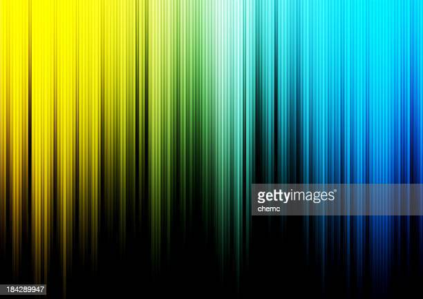 Abstract background colored in yellow, green and blue
