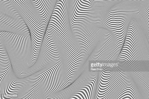 abstract background - curved lines - lineart stock-fotos und bilder