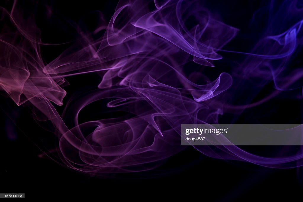Abstract Background Featuring Smoke Colored By Neon Lights