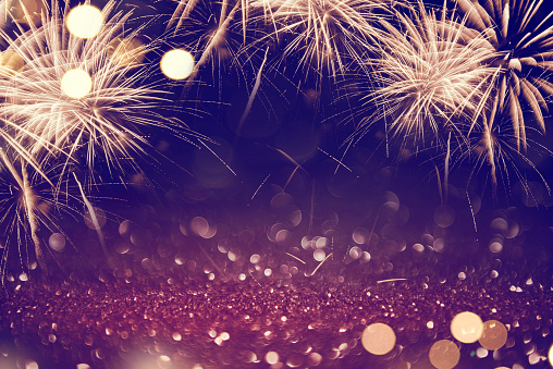 Abstract background fireworks holiday. 969086552
