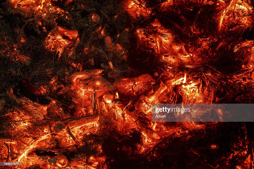 abstract background of burning coals : Stock Photo