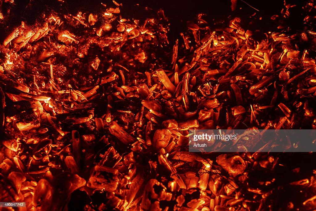 Fondo abstracto de ardor coals : Foto de stock