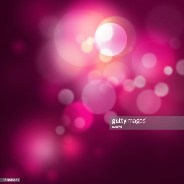 Abstract background of festive purple lights