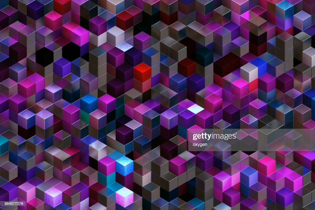 Abstract background of multi-colored cubes : Foto stock