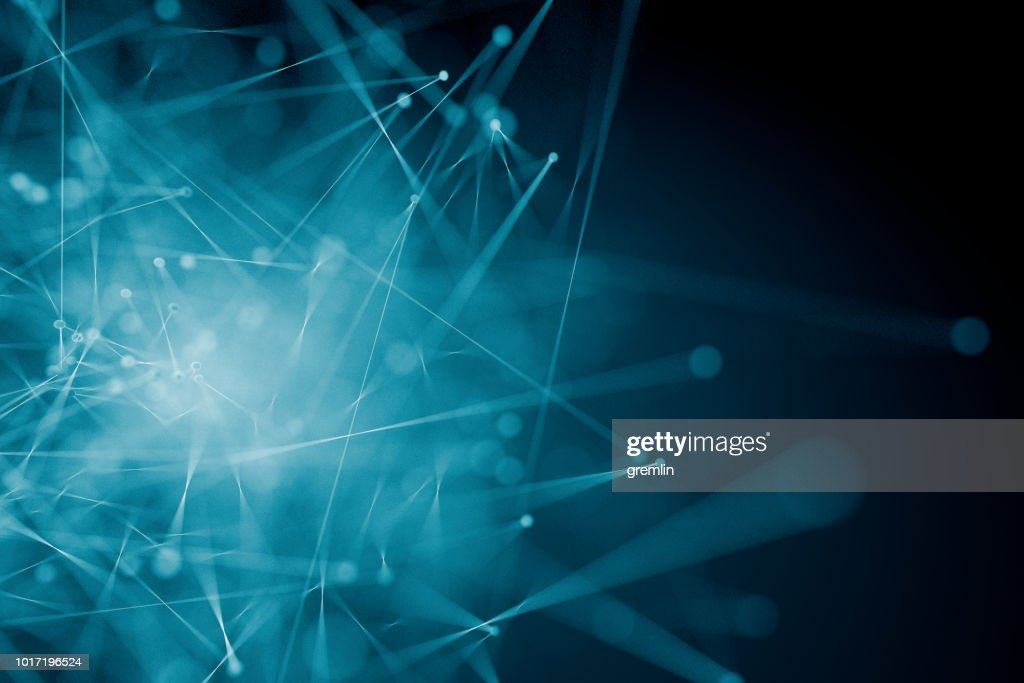 Abstract background of spheres and lines : Stock Photo