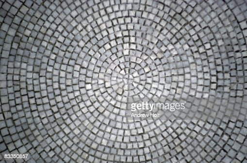 Abstract Background Of Stone Paving Circle Stock Photo