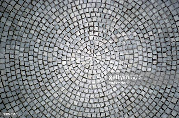 Abstract background of stone paving circle