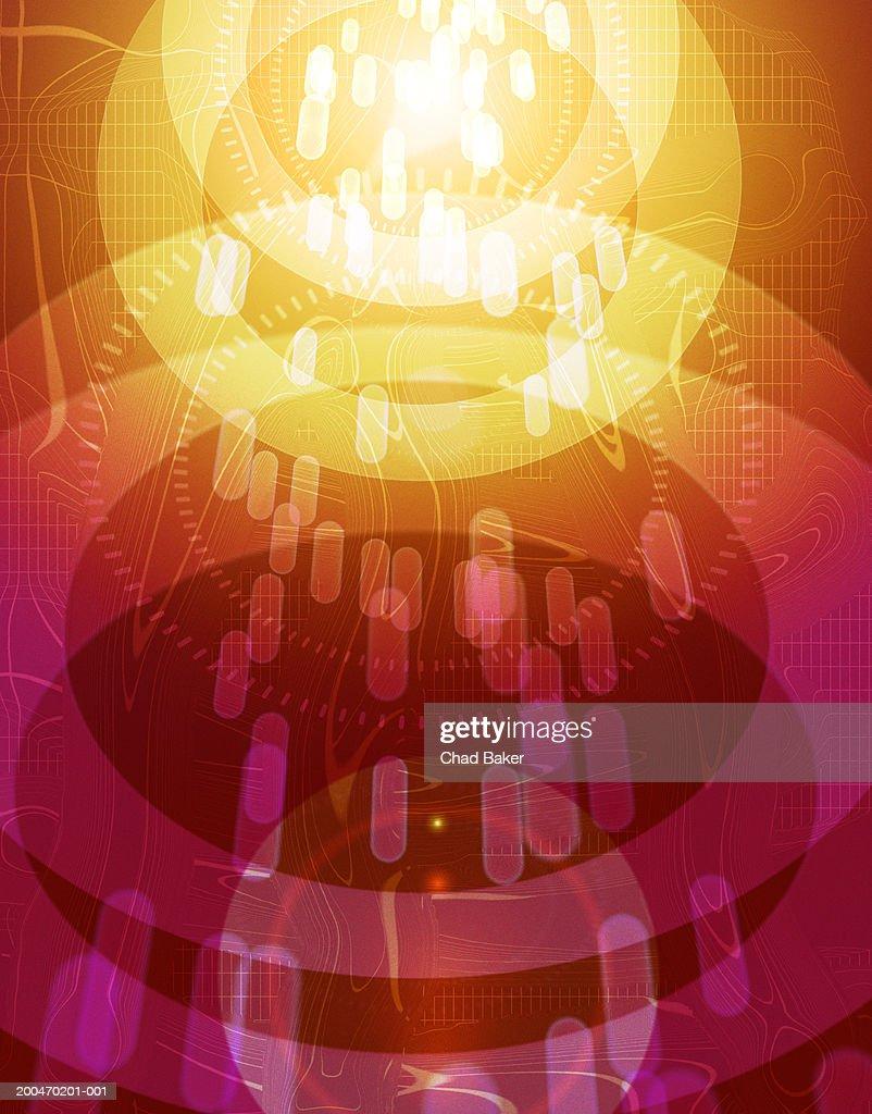 Abstract background (Digital) : Bildbanksbilder