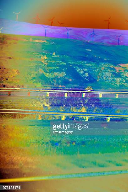 Abstract background, rural highway