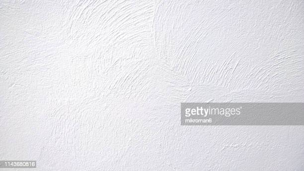 abstract background texture concrete or plaster hand made wall - wall building feature stock pictures, royalty-free photos & images