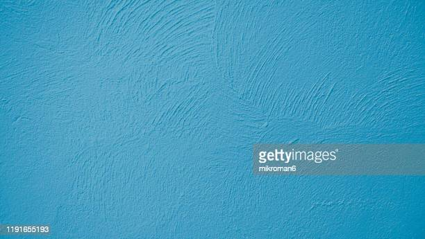 abstract background texture concrete or plaster hand made wall - blue stock pictures, royalty-free photos & images