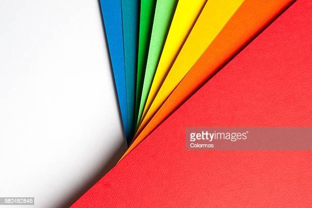 abstract background with color papers - cor vibrante - fotografias e filmes do acervo