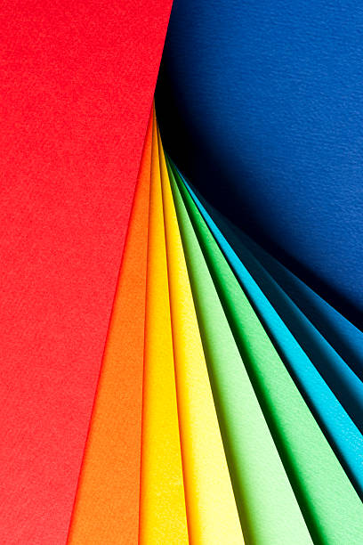 Abstract Background With Color Papers Wall Art