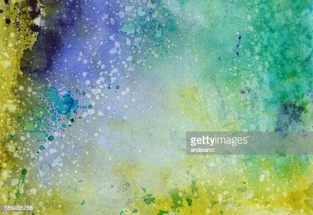 Abstract background with multiple colors and distressed texture