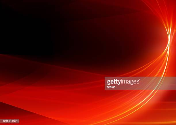 abstract background-red ribbon-high quality rendering - rood stockfoto's en -beelden